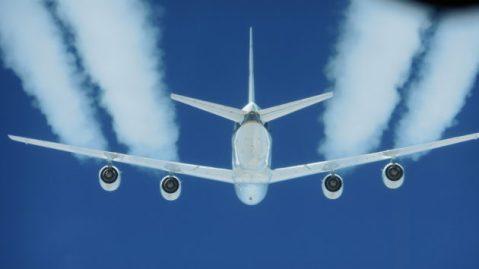 Jet contrails 2